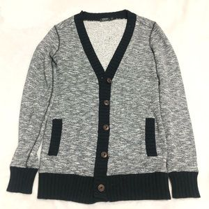 ROOTS Cotton V Neck Cardigan XS